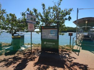Picture of the entry to the Ferry from karragarra Island in Queensland Australia