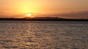Sunset image taken from beach on Karragarra Island Australia