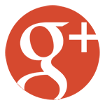 Google plus round red & white icon